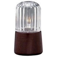 Sterno Candle Lamp 85196 - Mahogany Wooden Candle Lamp ...