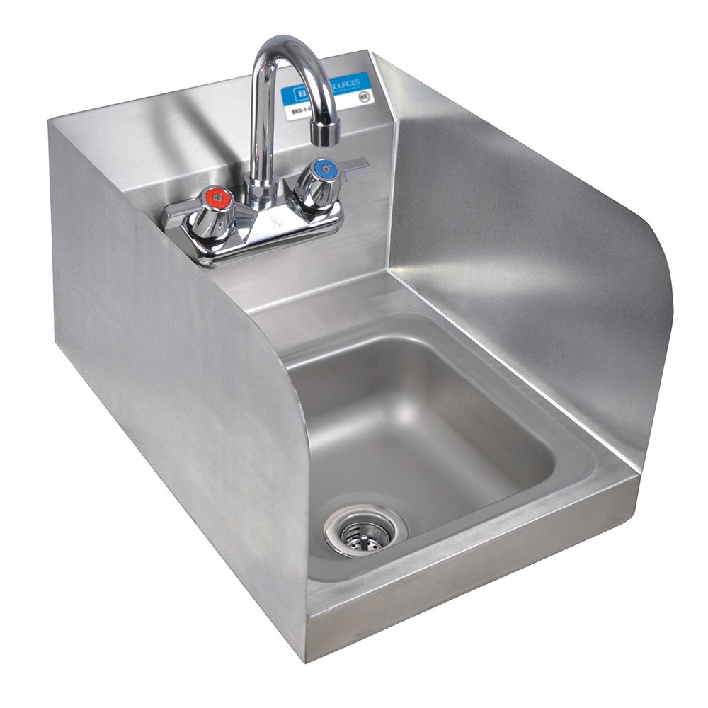 BK BKHSWSSSSPG  Hand Wash Sink with Faucet  Side