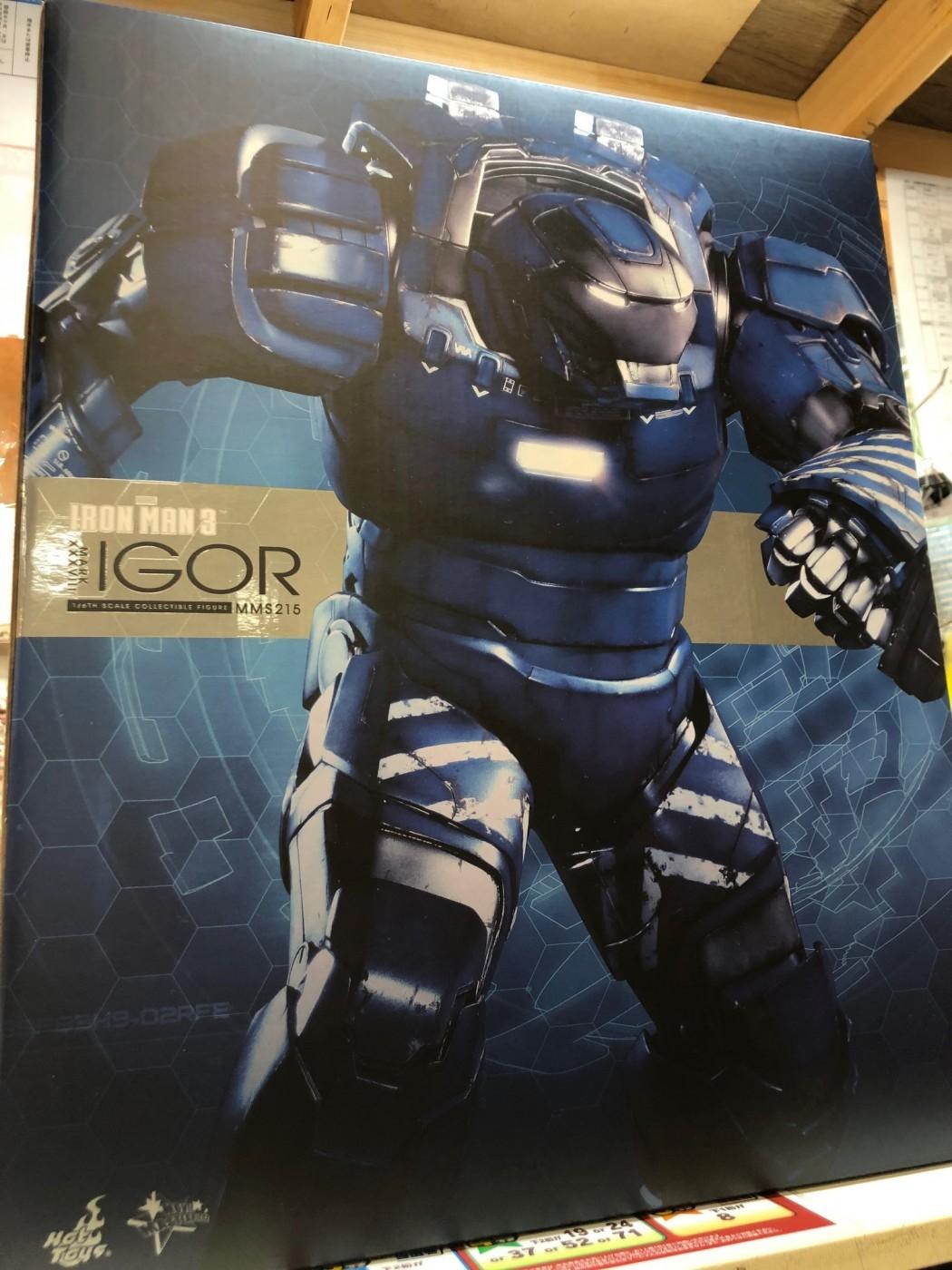 買取情報『ホットトイズのアイアンマン3 ムービー・マスターピース 1/6 アイアンマン・MARK38 イゴール』