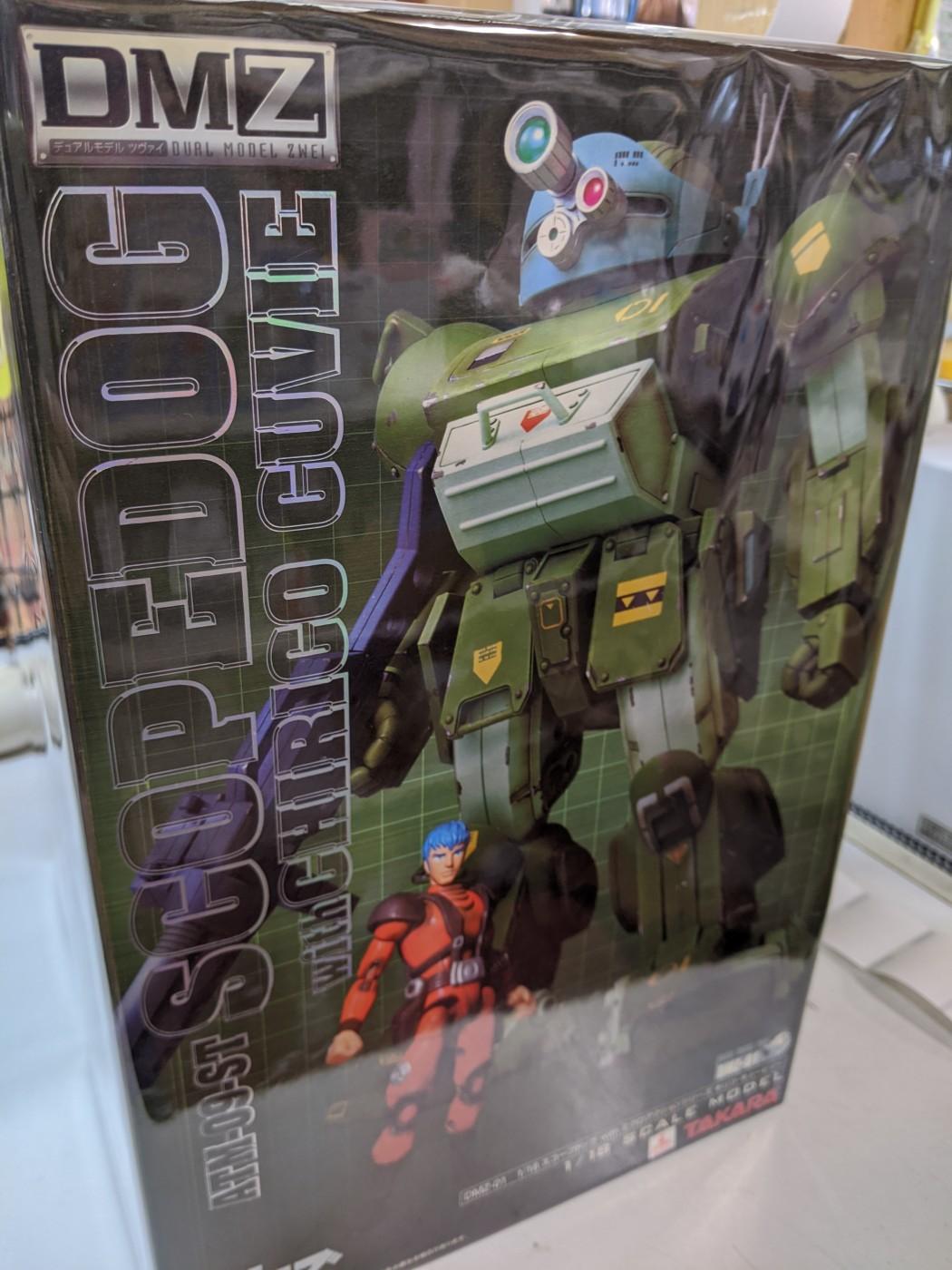 買取情報『タカラトミーの装甲騎兵ボトムズ  スコープドッグ withミクロアクション キリコ・キュービー DMZ-01』