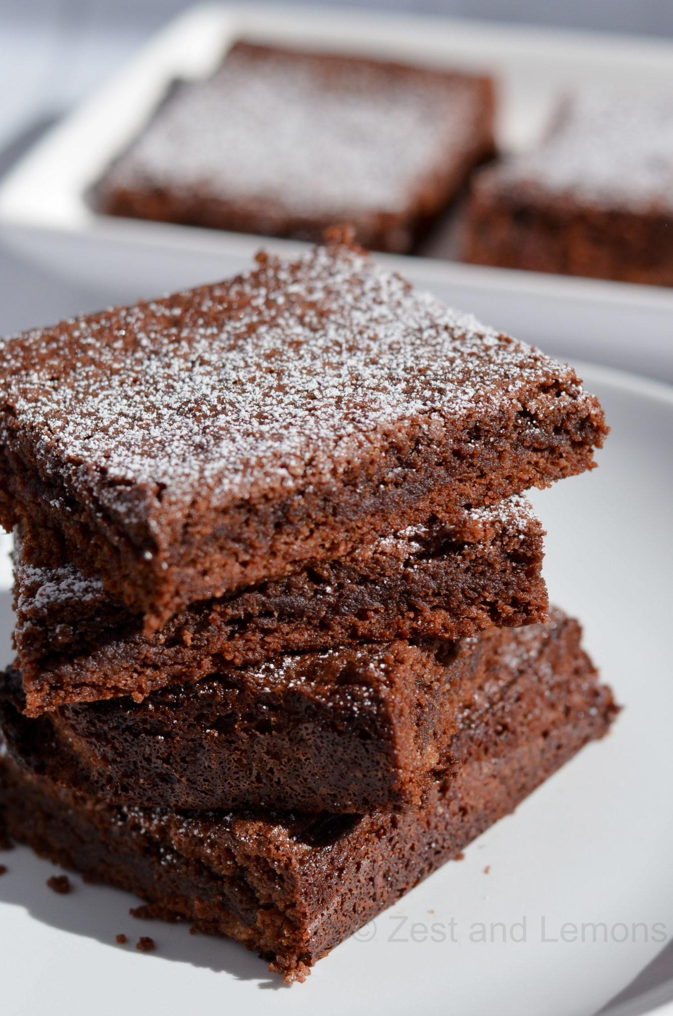 Gluten Free Mascarpone Brownies