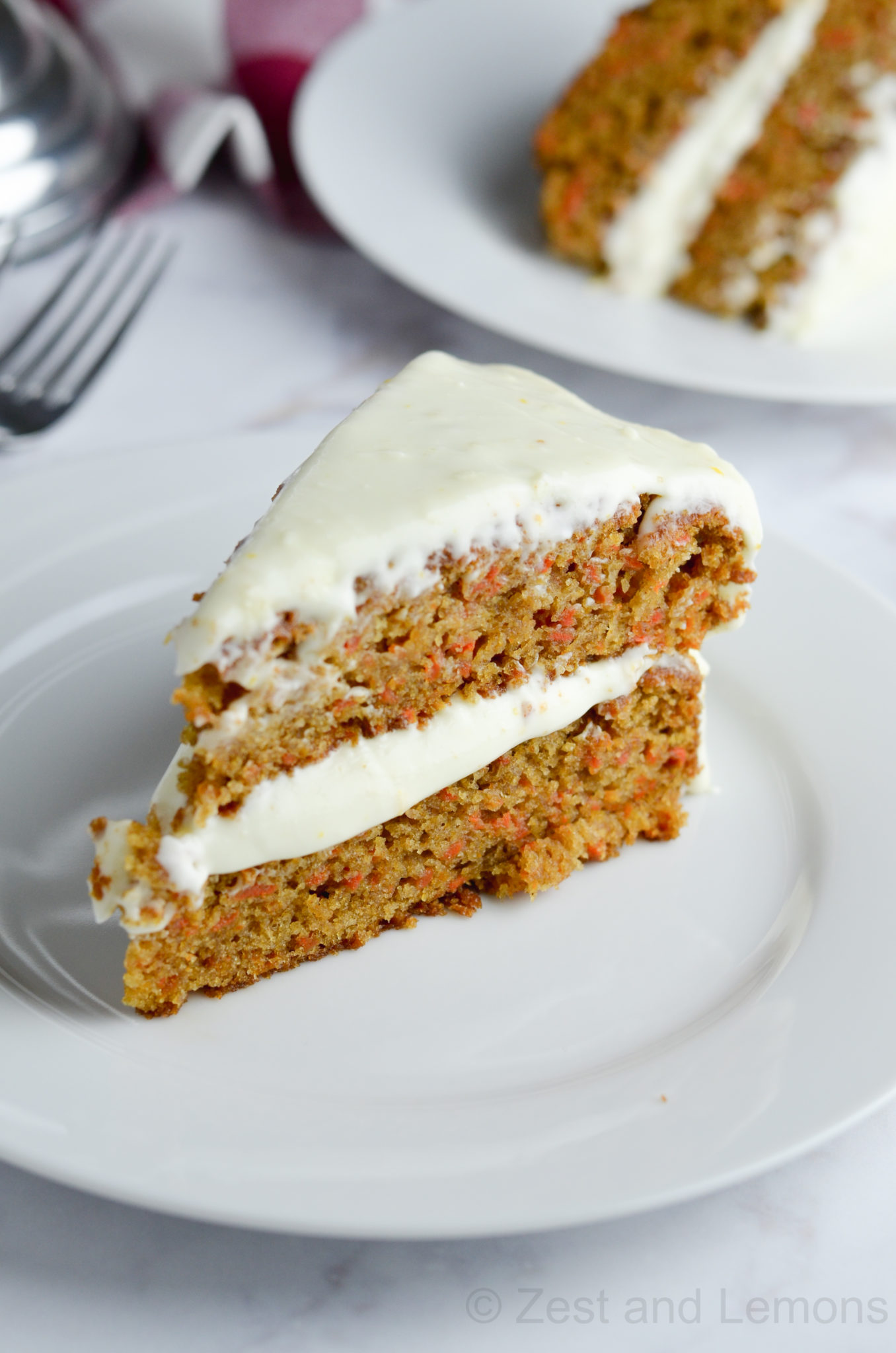 Gluten Free Carrot Cake with Orange Cream Cheese Frosting