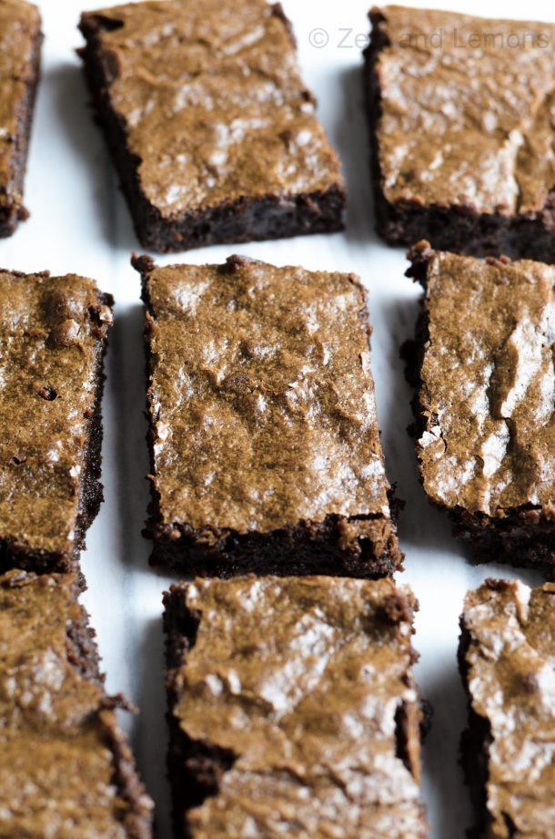 Chewy Coconut Oil Brownies