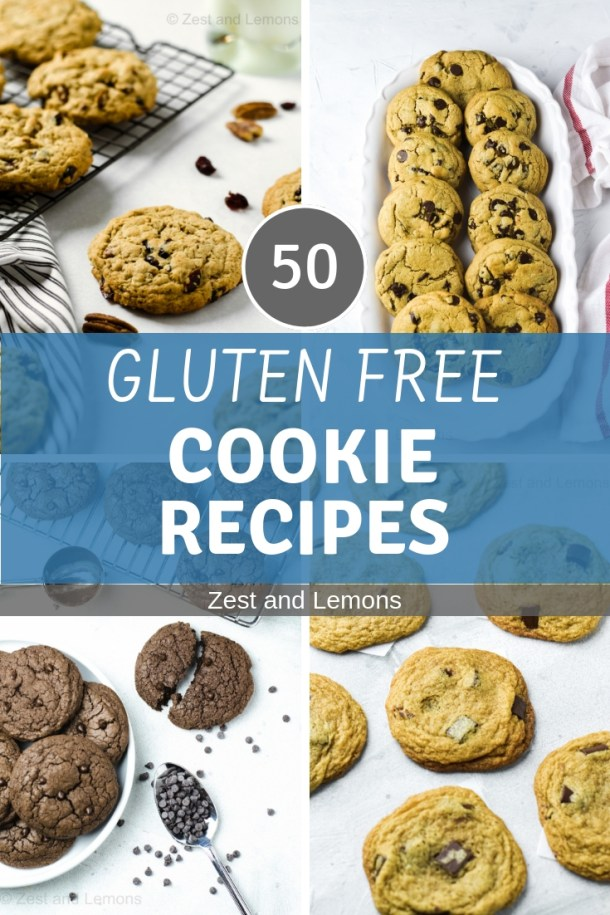 50 Gluten Free Cookie Recipes! - Zest and Lemons #glutenfree #glutenfreecookies