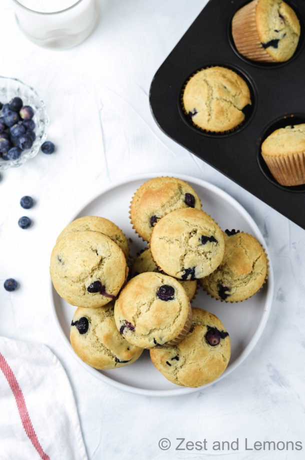 Gluten free blueberry muffins - Zest and Lemons