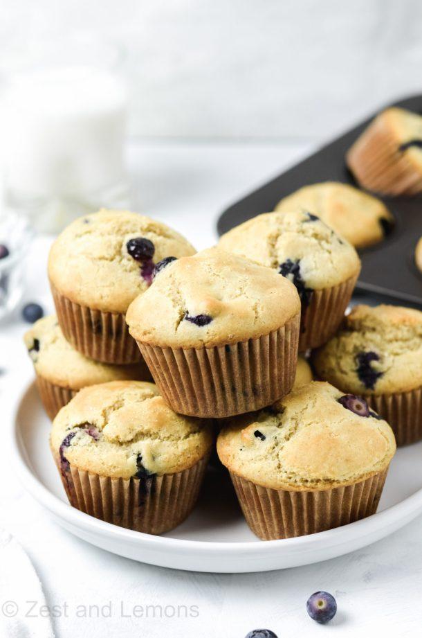 Gluten free blueberry muffins - Zest and Lemons