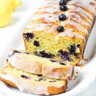 Gluten free lemon blueberry bread - Zest and Lemons