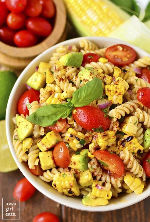 Grilled-Corn-and-Avocado-Pasta-Salad-iowagirleats