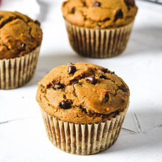 Gluten free pumpkin chocolate chip muffins - Zest and Lemons
