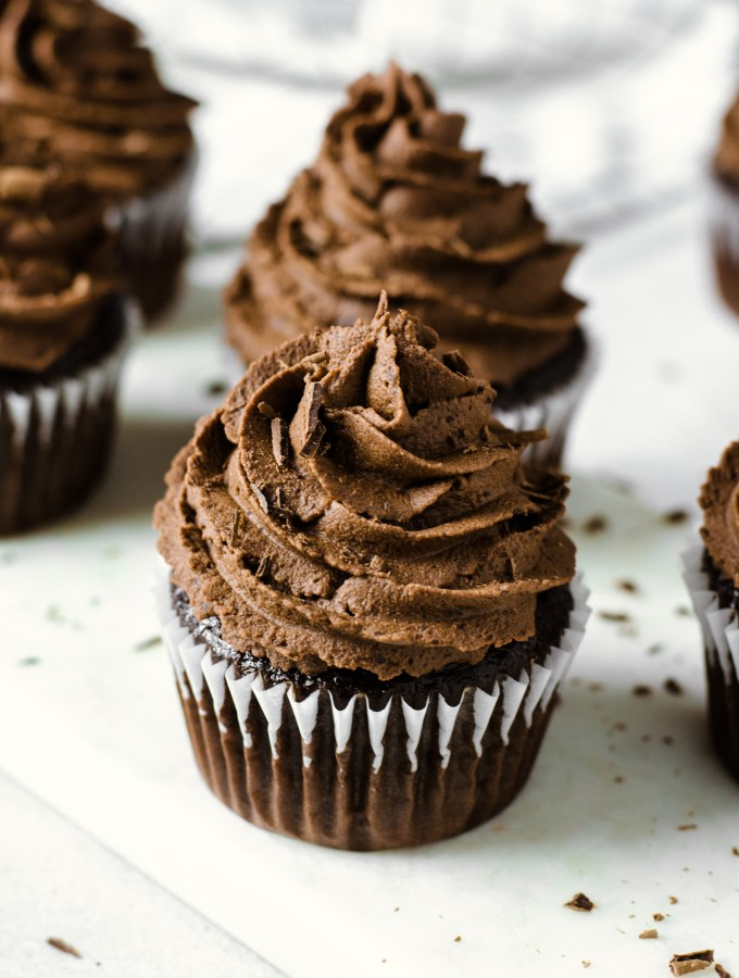 Gluten free chocolate cupcakes with espresso ganache - Zest and Lemons