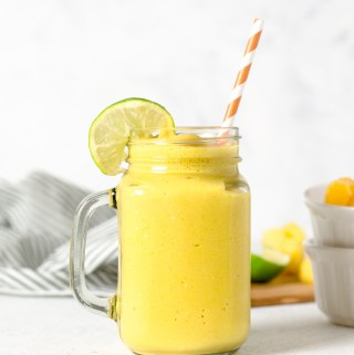 Tropical mango turmeric smoothie - Zest and Lemons