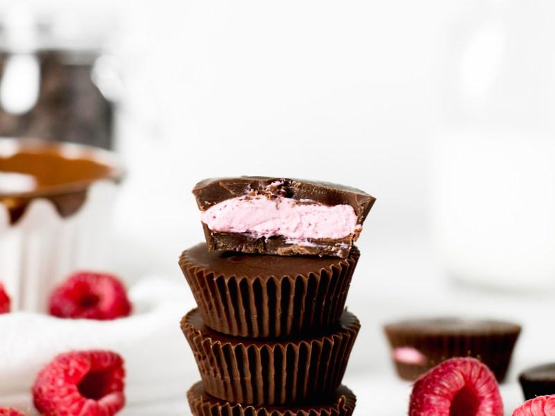 Mini Chocolate Raspberry Cups - Zest and Lemons