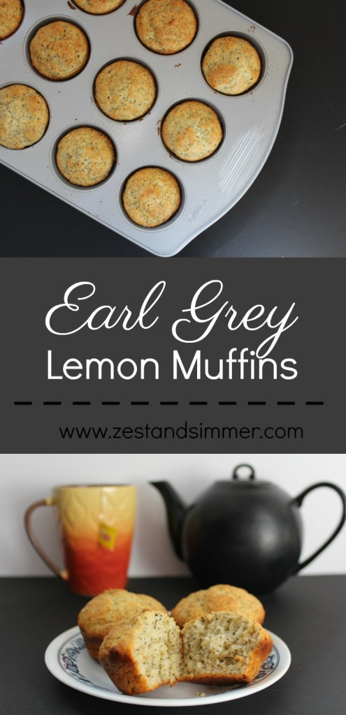 The rich aroma of Earl Grey tea leaves and the refreshing flavor of lemon makes these muffins a delightful treat, perfect for a quick breakfast or a midday snack.