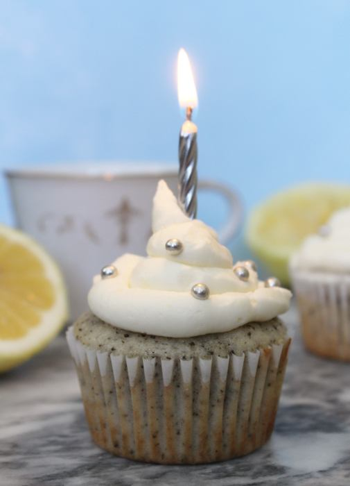 Earl Grey Cupcakes with Lemon Buttercream - A tea lovers delight! These unique, light and flavourful cupcake are made with earl grey tea leaves and topped with a beautiful lemon buttercream. This is a delectable dessert for springtime celebrations such as Mother's Day, bridal showers, birthdays or afternoon tea.