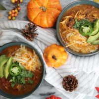 Instant Pot Pumpkin Chicken Chili