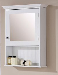 Brand New Colonial Style White Mirrored Bathroom Cabinet