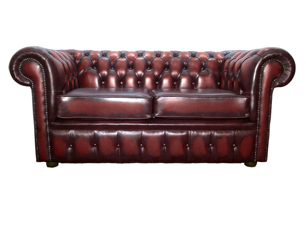red leather two seater sofa table with nesting benches chesterfield antique oxblood genuine fabric sofas chesterfields home furniture high quality living room dining and bedroom including beds zest interiors