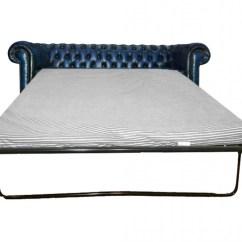 Leather 3 Seat Sofa Bed Corner Sofas Argos Chesterfield Genuine Antique Blue Three Seater