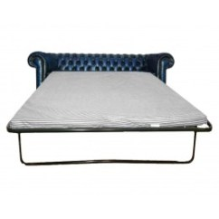 Sofa Bed Uk Under 100 Modern Gray Chesterfield Genuine Leather Hand Made Three Seater Antique Blue