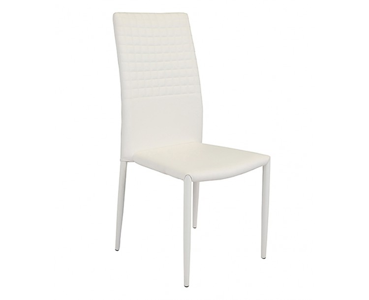 Cuba Stackable Faux Leather White Dining Chair