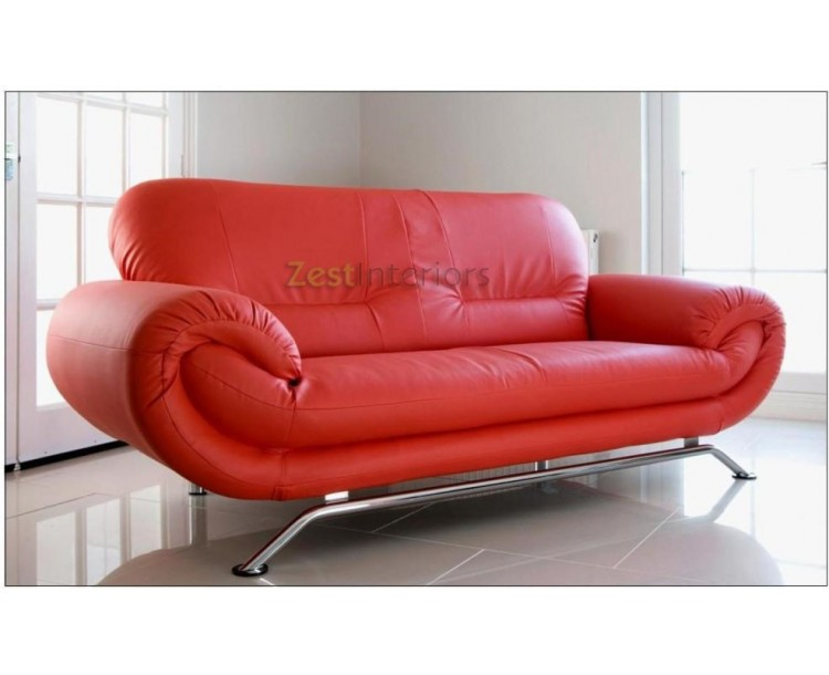 2 seater red leather sofa bed armless modular sectional florence two faux modern design