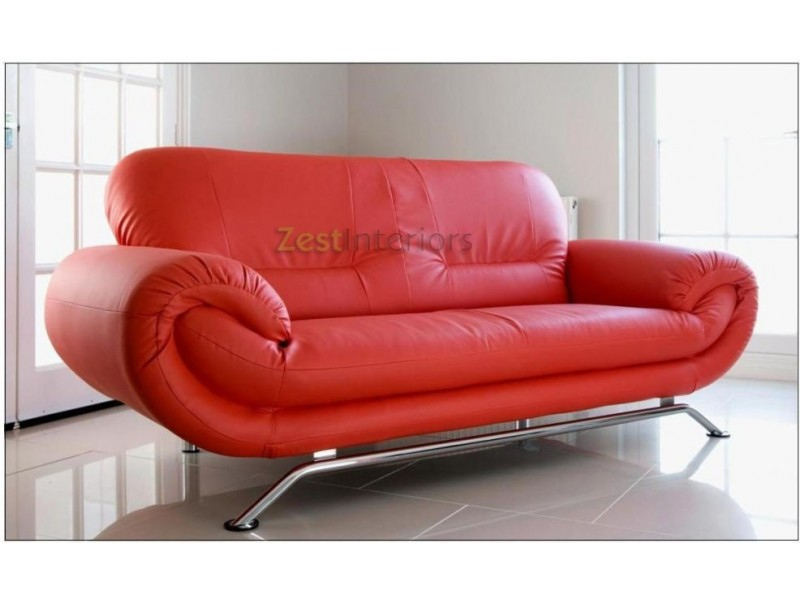 red leather two seater sofa dimensions home decor 88 florence faux with chrome finish legs