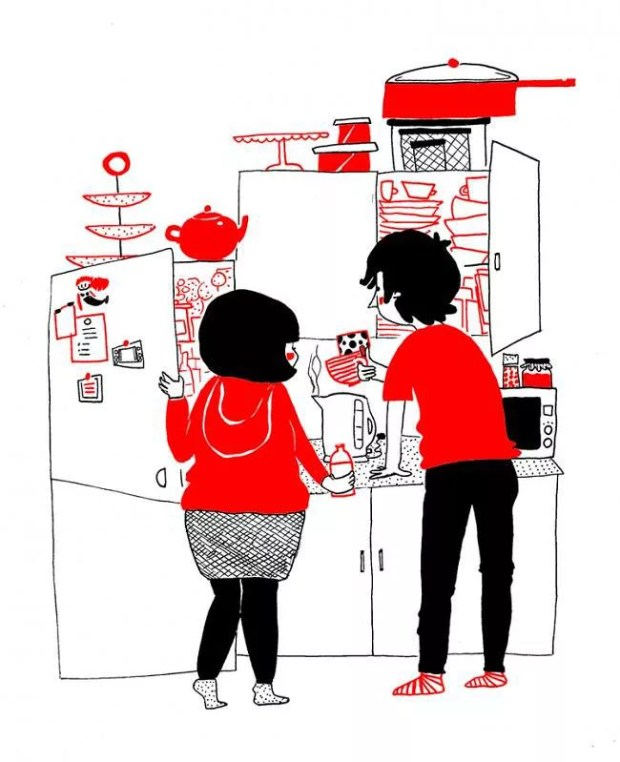 love is cooking together