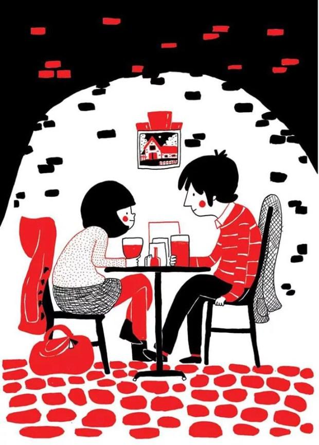 love is having coffee in favt caffe