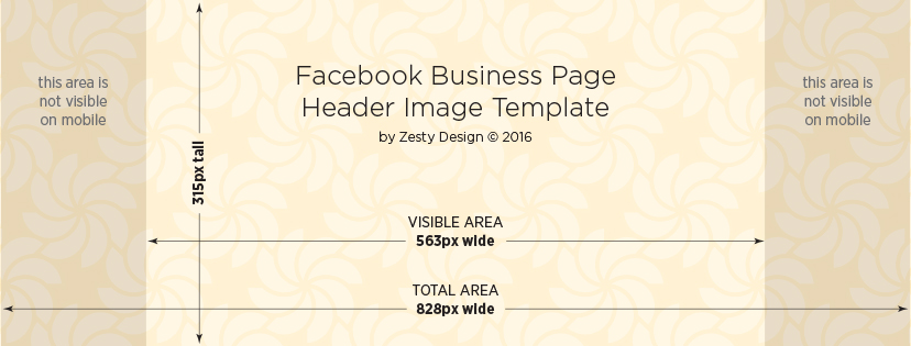 Facebook Business Page Header Image template