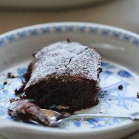 עוגת פודינג שוקולד