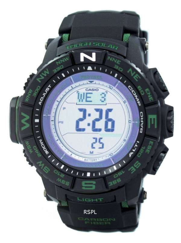 Casio Protrek Triple Sensor Tough Solar Atomic Prw-s3500
