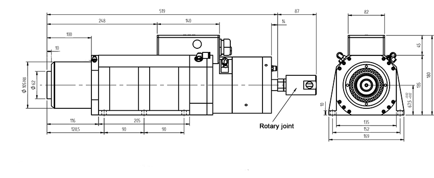 Spindles ELTE of AF110 CU PL ISO 40 series with automatic