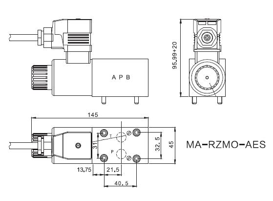 Direct acting proportional overflow valve MA-RZOM
