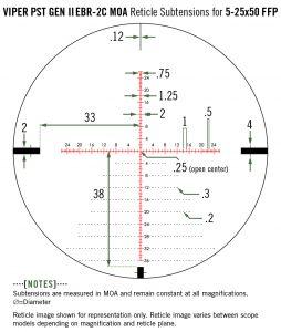 PST-5255 Vortex Optics Viper PST Gen II 5-25x50 FFP WITH EBR-2C MOA RETICLE 3