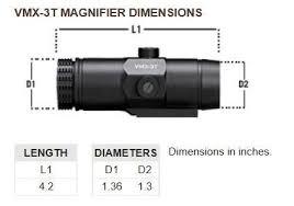 VMX-3T Vortex Optics Magnifier with Flip Mount (37mm   40 mm Heights) 1