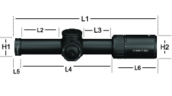 PST-1605 Vortex Optics Viper PST Gen II 1-6x24 Riflescope with VMR-2 Reticle 1