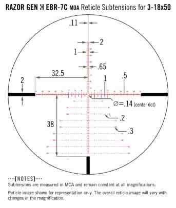 RZR-31805 Vortex Optics Razor HD Gen II 3-18x50 FFP Riflescope with EBR-7C Reticle (MRAD) 2