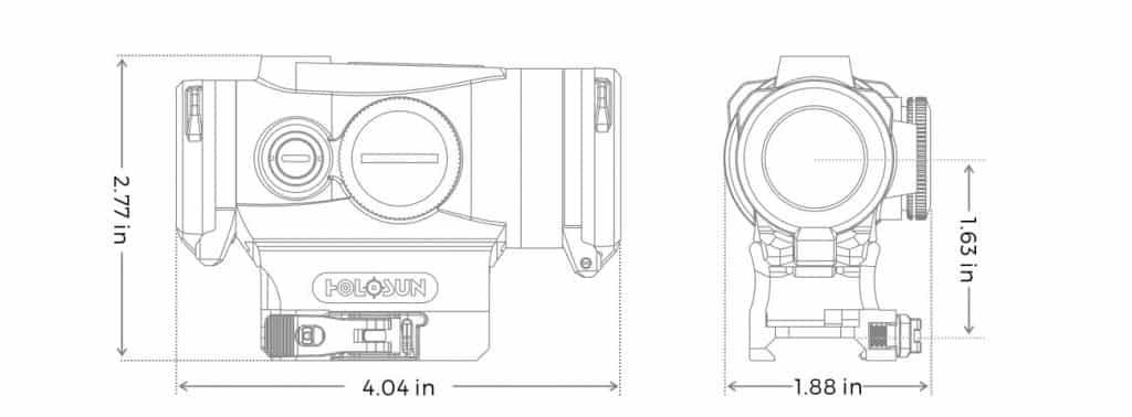 Holosun HE530G-RD Red Dot / Circle Dot Tube Sight With QD