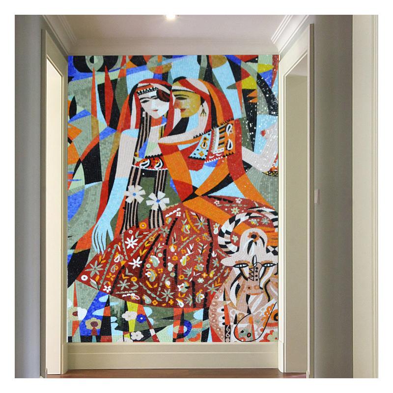 zfctm002 cartoon glass mosaic tiles
