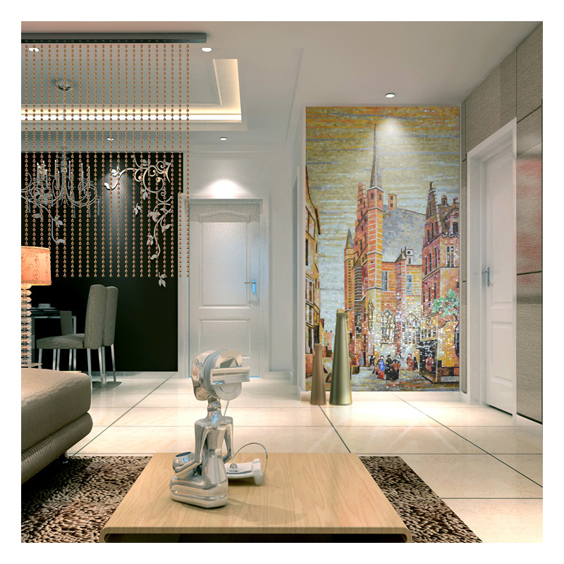 zfbm008 classic mosaic tiles mural for