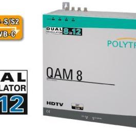 Stacja POLYTRON QAM 8 EM 8x DVB-S2 / 12x DVB-C FTA