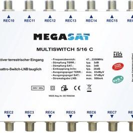 Multiswitch kaskadowy Megasat 5/16 C