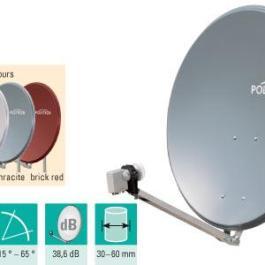 Antena SAT aluminiowa POLYTRON OSP 85 jasny szary