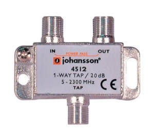 1 WAY TAP OdgałęŸnik 1-krotny Johansson 20 dB 4512