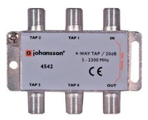 4 WAY TAP OdgałęŸnik 4-krotny Johansson 20 dB 4542