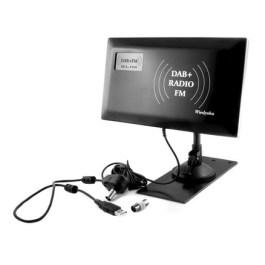 Antena radiowa DAB+FM SLIM pokojowo-zewnętrzna