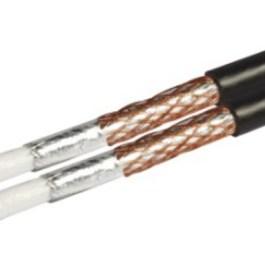 Kabel RG6 Revez CT63 Twin pełna miedŸ czarny 20m