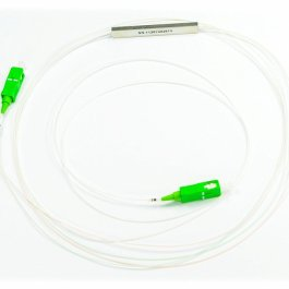 Splitter optyczny PLC Steelbox z końcówkami 1x2