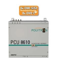 Stacja POLYTRON PCU 8610 4x8 DVB-S/S2 na 8xDVB-C
