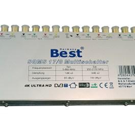 Multiswitch BEST SQMS 17/8 + zasilacz impulsowy